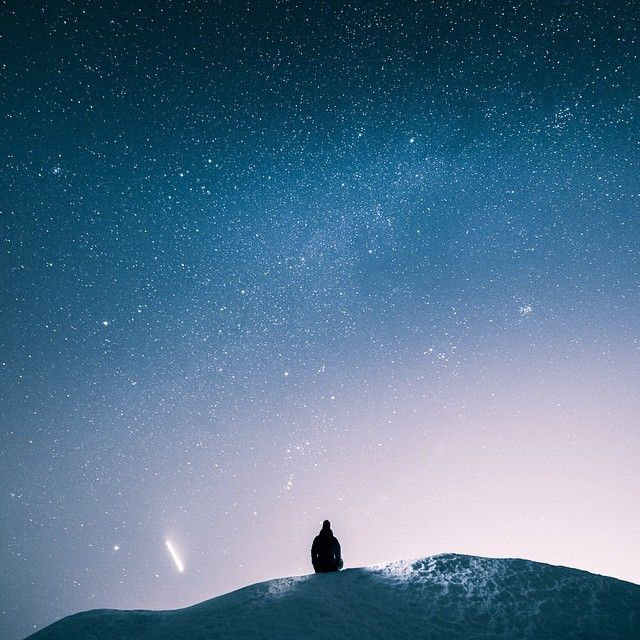 Last evening I sat on this spot to enjoy the view.  The light in the left is actually from an airplane. Mikko Lagerstedt