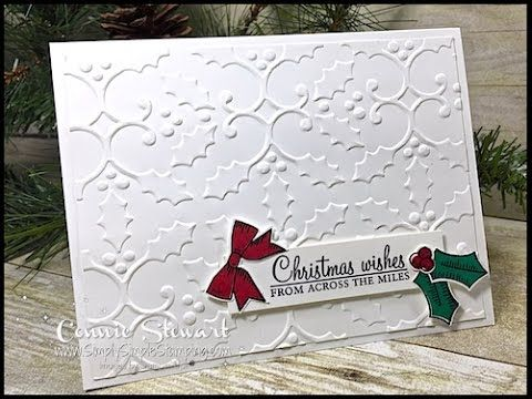 Make It in Minutes - Holly Christmas Wishes Card | Simply Simple Stamping