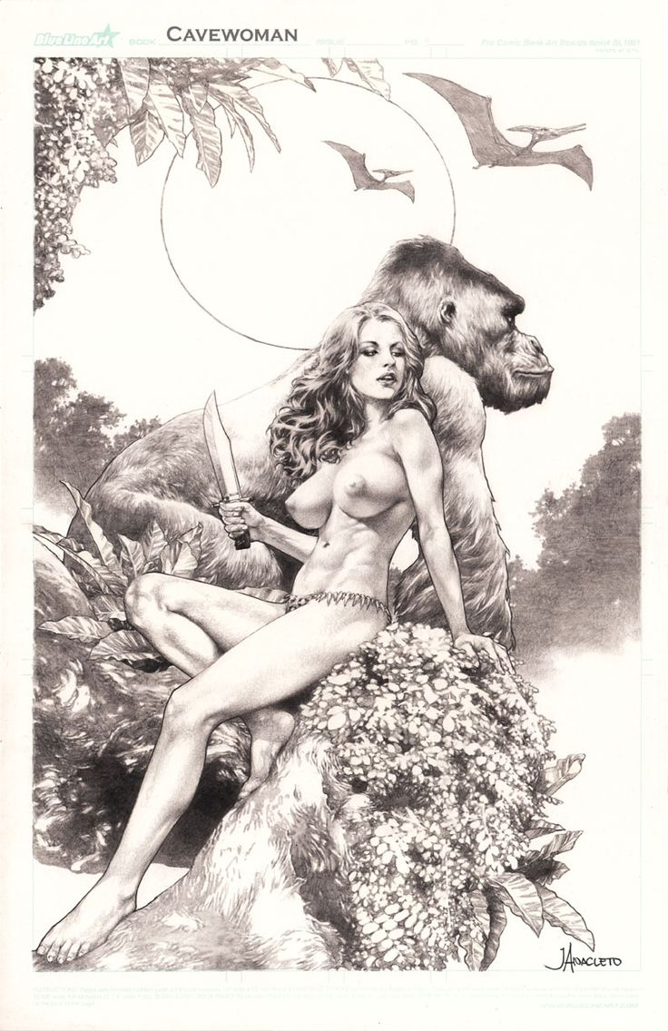 Cavewoman by Jay Anacleto. Wow, and Vavoom.
