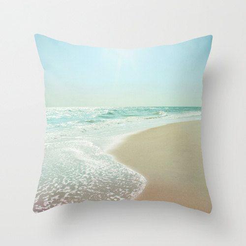 Pillow Cover Ocean Pillow Beach Photography by KalstekPhotography, $36.00