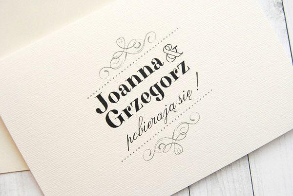 Zaproszenia ślubne PROSTE + koperta - ZaproszeniaFotoplastykon - Zaproszenia ślubne