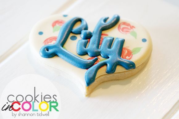 Name on a Cookie   Cookies In Color   Shannon Tidwell