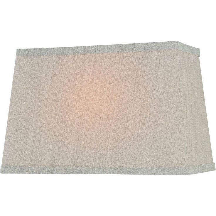 Lite Source Lighting Beige Rectangle Lamp Shade with Spider Assembly CH1188-16