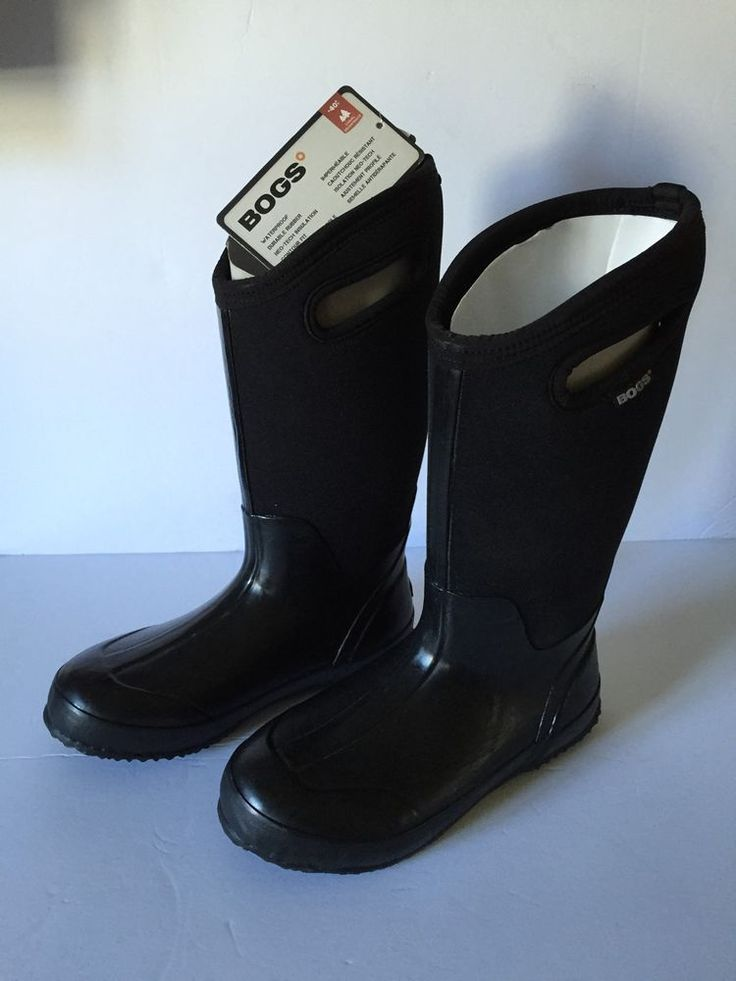 Bogs Boots Women Classic High Waterproof Insulated Black Rain Winter NWT #Bogs…