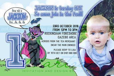 Count von Count Childrens Birthday Invitations