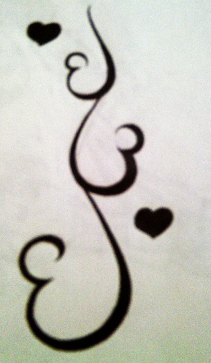It's 3 hearts 3 sisters but I would do 5 for all of my sisters :)