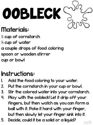 how to make oobleck without cornstarch or glue