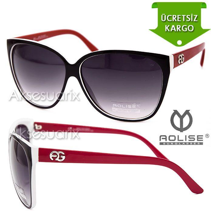 Vintage Aolise  Bayan Güneş Gözlüğü T51153 SİYAH KIRMIZI http://www.aksesuarix.com/bayan-gunes-gozlugu