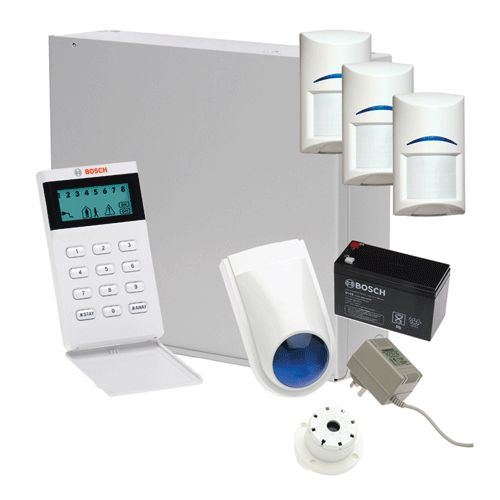 Bosch Solution 2000 Alarm System with 3 x Gen 2 Quad Detectors+Icon Codepad