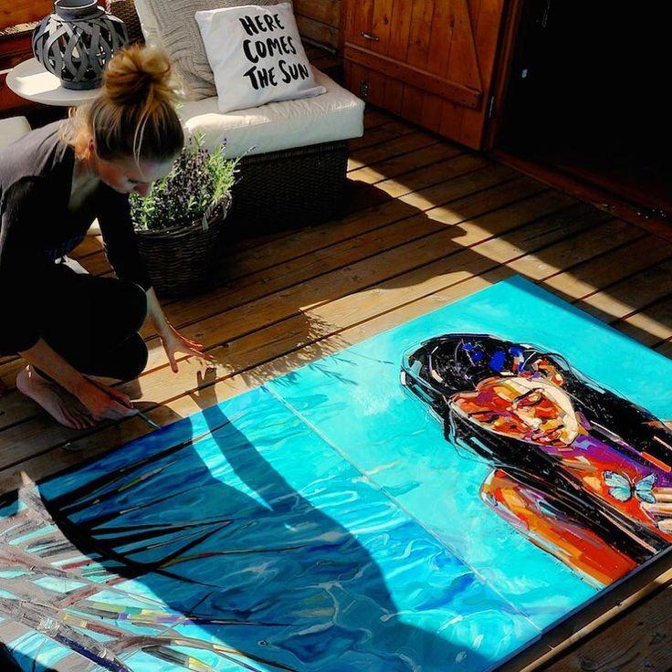 STUDIO/ Kaszuby/ process The Ocean /diptych 100x200cm oil on canvas