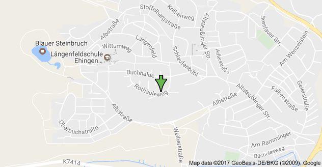 Rothäuleweg 10, 89584 Ehingen (Donau), Njemačka, karta