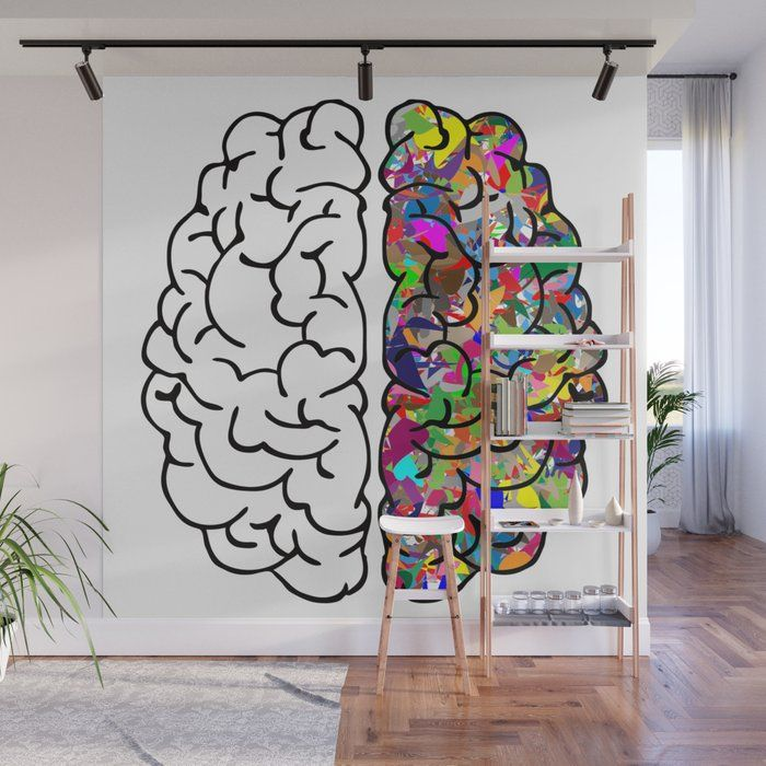 Brain Mind Anatomy Wall Mural In 2019 Wall Murals Wall