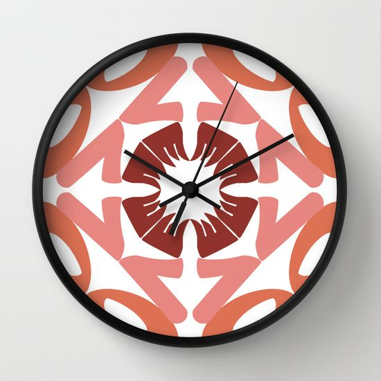 KALEIDOSCOPE LOVE Wall Clock by Cristina Alhippio - $30.00