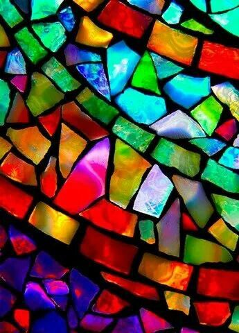 ....Mosaic....don't know what this is..broken stained glass? I don't know, but it's gorgeous.