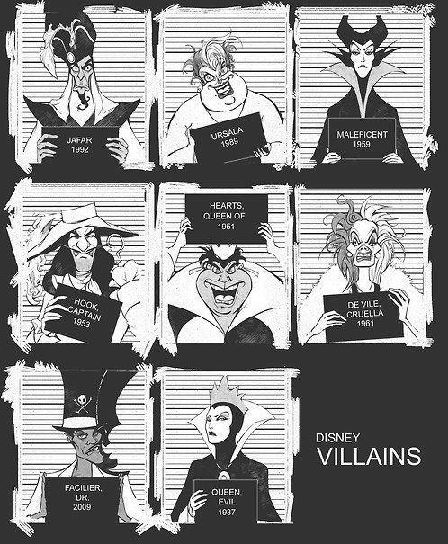 Disney villain mugshots | 12 Kinds Of Mugshots You Can Find On Pinterest
