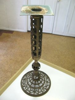 $50 Gorgeous BRASS ORNATE LAMP STAND DISPLAY 18x42cm Text 0411691171 or email info@bitspencer.com