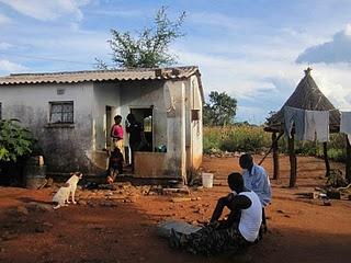 a rural village in Zambia