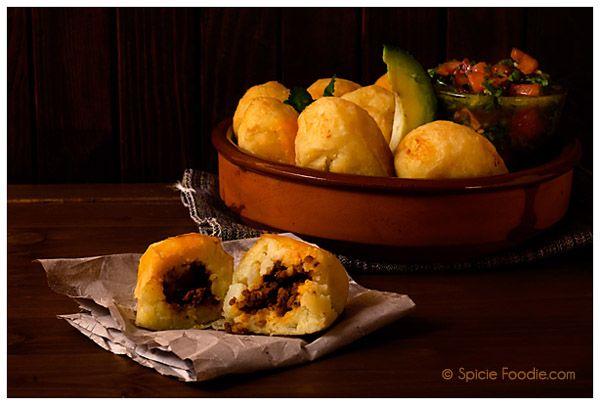 Papas Rellenas Con Chorizo or Chorizo Stuffed Potatoes by Spicie Foodie