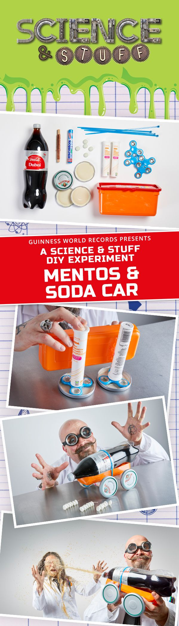 One Of Our Many Diy Science Experiments From The New Guinness World Records Book Science Stuff Whether Y Fun Science Diy Science Diy Science Experiments