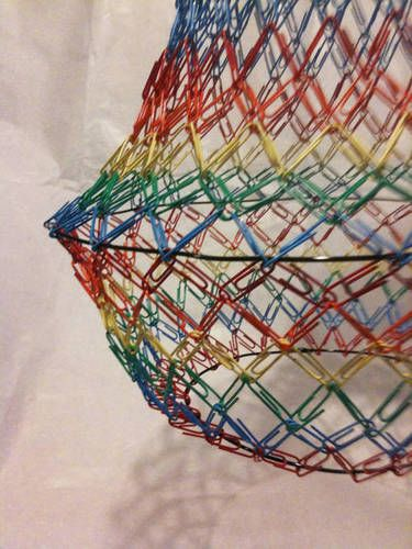Paperclip Chandelier - use wire from a broken lamp shade?