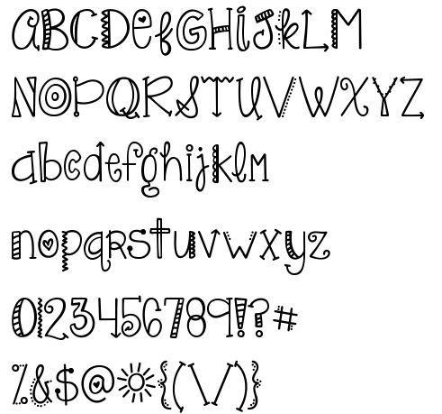 Doodling letters