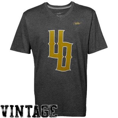 Nike Oregon Ducks Tri-Blend V-Neck Vault T-Shirt - Charcoal $24.95