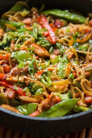 If you love our Teriyaki chicken casserole or our Teriyaki Veggie Bowls you're going to be drooling over these Teriyaki Chicken Noodles!