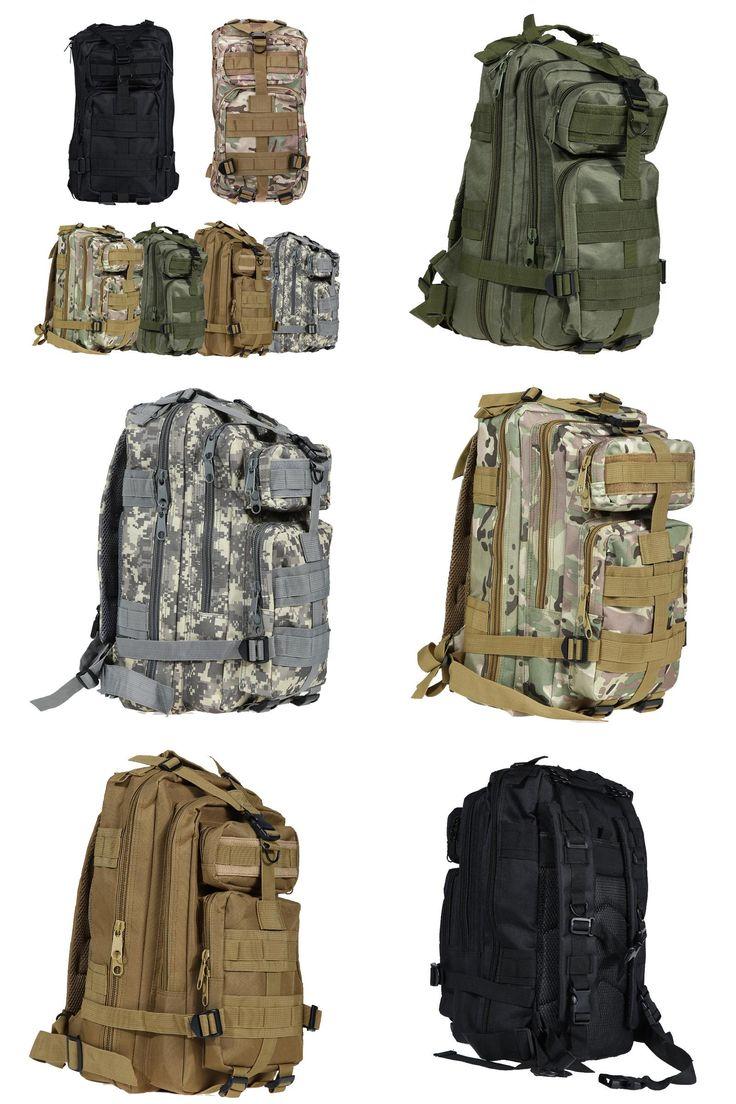 [Visit to Buy] Outdoor Tactical Sport Bags Military Bag Backpack Camping Hiking Bag Large Rucksacks Softpack Deportivas mochila militar tactica #Advertisement