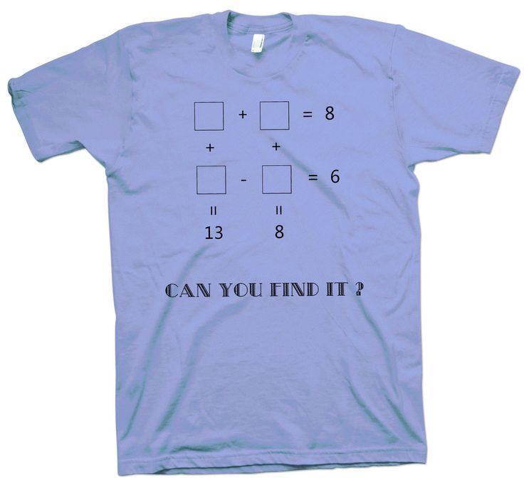 Math Riddle T-Shirt , Science Geek Tee Funny Cute Scientist Maths Mathematician - T-Shirts