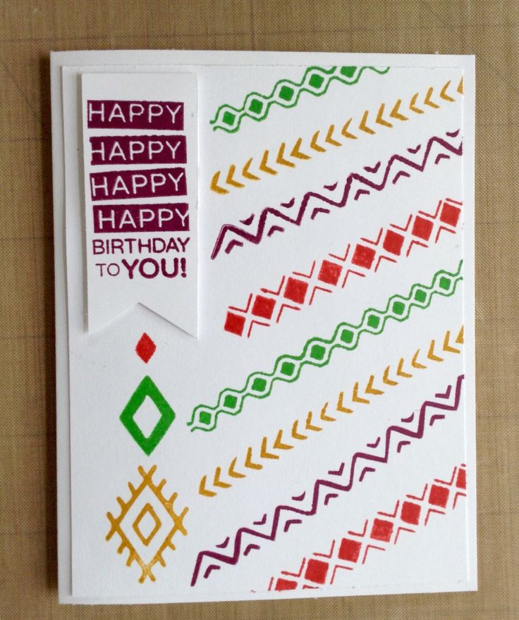 Amazing Birthday with Bohemian Borders Stampin Up
