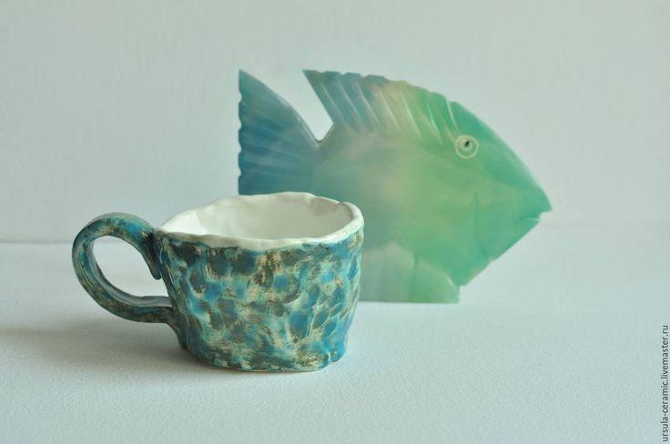 Купить Керамическая чашка Глубина. - керамическая посуда, керамическая кружка, керамическая чашка