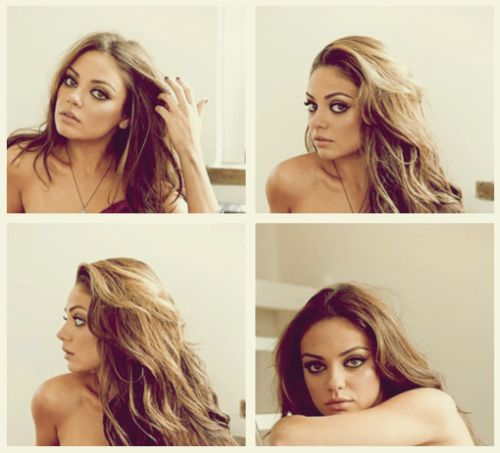 Gorgeous girl! My personal hollywood fav. I think it's because she looks like my mother when she was young.Girls Crushes, Hair Colors, Eye Makeup, Milakunis, Mila Kunis, Hairmakeup, Wavy Hair, Hair Makeup, Woman Crushes