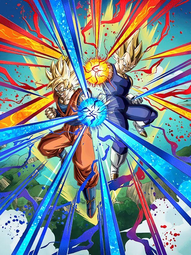 Lr Goku And Vegeta Dragon Ball Z Dokkan Battle Anime Dragon Ball Super Dragon Ball Artwork Anime Dragon Ball
