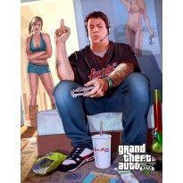 Gamer GTA V POSTER