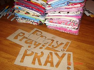 Prayer Pillowcases, going to try to get this done for all the kids for Christmas.  Hmmm.