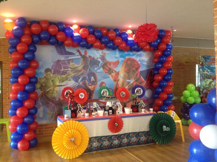 42 Best Images About Decoracion Fiesta Superheros On Pinterest Mesas Avengers Birthday