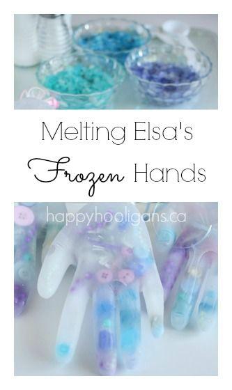 Melting Elsa's Frozen Hands Activity - Happy Hooligans
