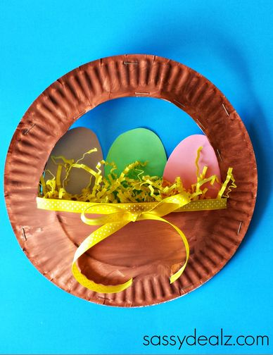 Egg Easter Basket Paper Plate