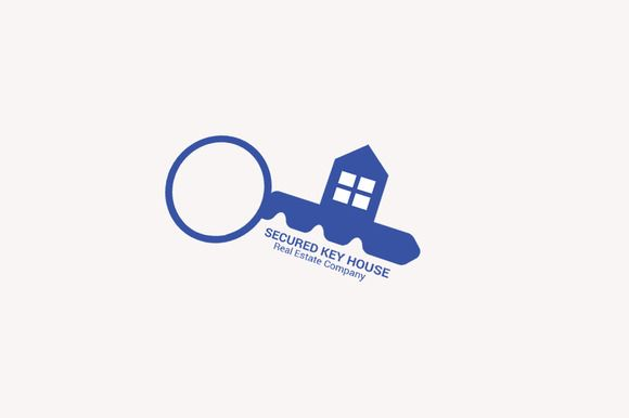 Secured key House - Real Estate Logo