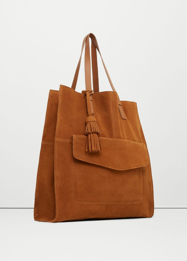 Leather shopper bag - Bags for Women | MANGO USA