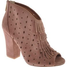 109.95 Jessica Simpson - Maldwin is a darling shoe bootie on a chunky high heel. The laser cut out upper adds extra flair.
