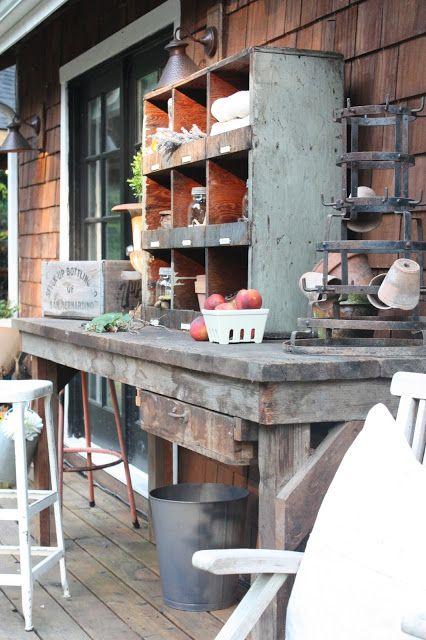 My Sweet Savannah: ~my new potting bench~