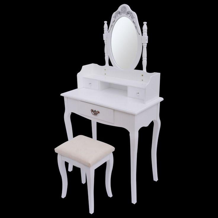 ON SALE! HomCom Dresser Dressing Table Makeup Vanity w/ Stool Mirror Home Furniture