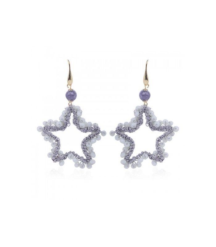 Lila ster oorbellen|Ster oorbellen koop je online|Snelle verzending