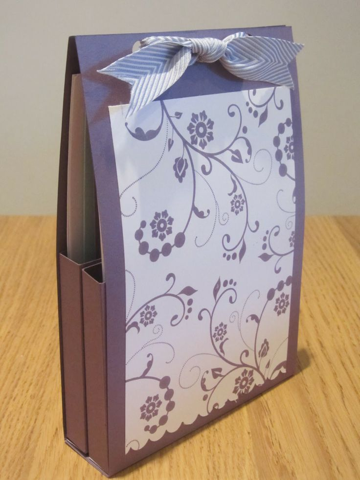 Stampin Up Flowering Flourishes Card Gift Box - Tutorial