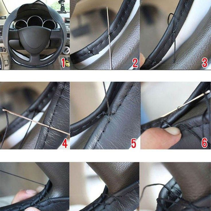 http://www.ebay.com/itm/New-Leather-DIY-Car-Steering-Wheel-Cover-With-Needles-and-Thread-Black-/151663305285?hash=item234fd66245