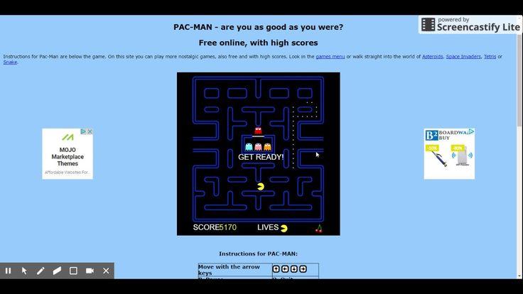Playing Flash Pacman