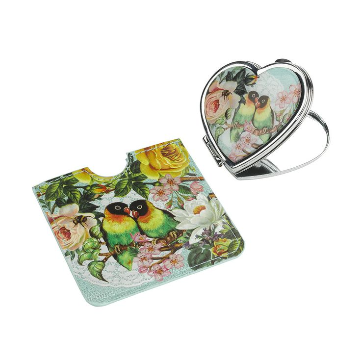 Perfect for mums handbag Wanderlust Compact mirror and sleeve