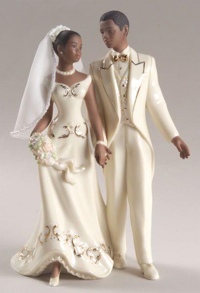 African American Wedding Cake Tops | Just Married-African American Cake Topper – Moments In Life ...