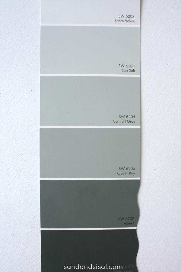 "Sea Salt-Comfort Gray-Oyster Bay- Retreat - the most soothing, serene color pallet for modern- coastal home. My total ""go-to"" color swatch! Click to see why!"